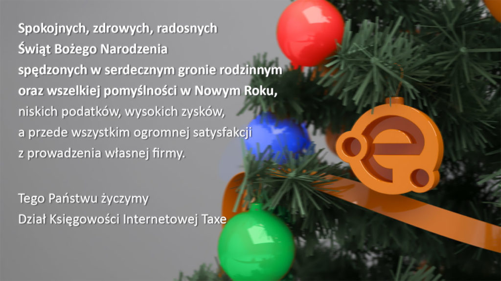 Spokojnych, zdrowych, radosnych Świąt Bożego Narodzenia, spędzonych w gronie rodzinnym oraz wszelkiej pomyślności w Nowym Roku!